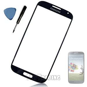 Samsung Remplacement de vitre écran avec outils pour Samsung Galaxy S4 GT-I9500 GT-I9505 Noir