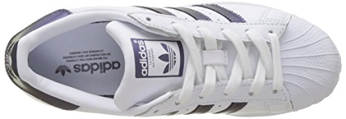 adidas Superstar, Sneaker Donna Bianco (Footwear White/purple Night Metallic/footwear White 0)