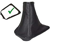 Schaltsack mit Kunststoff-Rahmen, schwarzes Leder