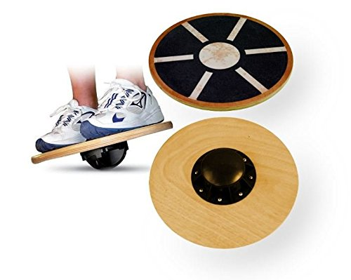 417ispS9j8L - BEST BUY #1 BodyRip Wooden Balance Wobble Board Reviews and price compare uk