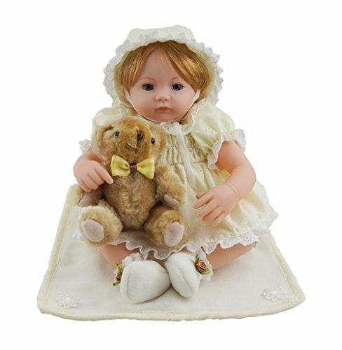 Cosette 16-Zoll Baby Puppen Nettes Mädchen Geschenk Spielzeug für Weihnachtsgeburtstags Zuhause Dekor