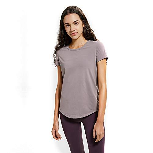 Sportbekleidung Für Damen, Schmales T-Shirt Atmungsaktive, Hochelastische Joker Running Fitness-Yoga-Kleidung Für Damen,A,8 ()