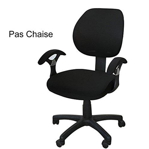 Xianheng Housse de Chaise Bureau Protection fauteuil pivotant Office Noir