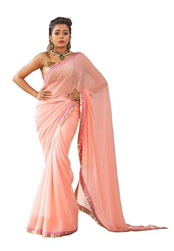 Palav Women\'s Chiffon Sarees Party Wear/Fancy Chiffon Sarees/Embroidered Chiffon Sarees,