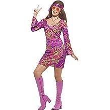 Hippie Kostüm Woodstock für Damen - Tolles Kostüm im 70er oder 80er Jahre Stil zu Karneval oder Mottoparty