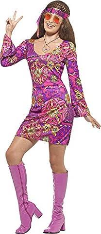 Hippie Kostüm Woodstock für Damen Gr. M