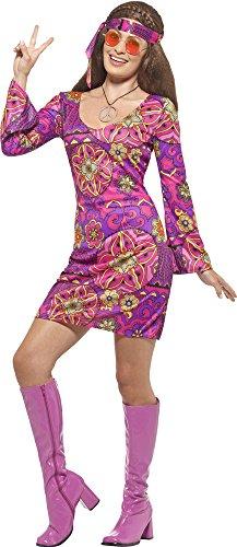 Hippie Kostüm Woodstock für Damen Gr. ()