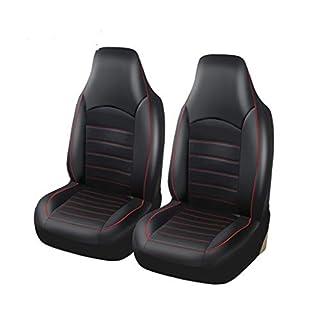 YXLcars Autositzbezüge,Anti-Flecken,Dickes Material,Rutschfeste Unterlage,einfache Reinigung,schwarz