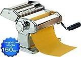 Maury's Sfogliatrice Macchina Per La Pasta Fresca Fatta in Casa all'Uovo per Fettuccine Tagliolini Funzionamento Manuale a Manovella Larghezza 150mm 9 Tagli in Acciaio e Rullo In Alluminio