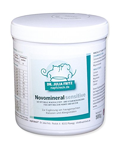 Napfcheck ® Novomineral sensitive - Mineralien und Vitamine für Hund & Katze - 500 g
