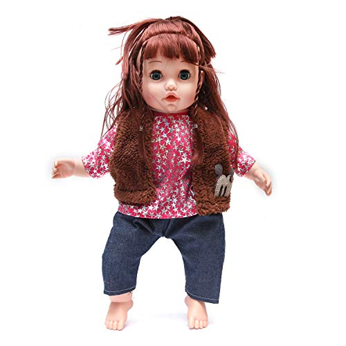 Wembley Toys Amazing Doll Soft Body Toy with Open/Close Eyes, 18-inches (Annie PANNIE)