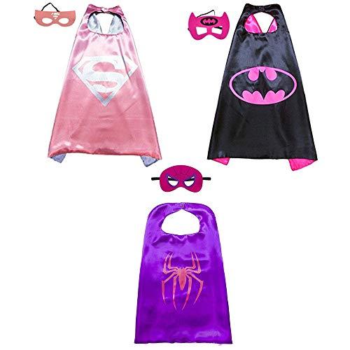 Superhelden Umhang Maske, Superhelden Kostüm Kinder die Mantel Jungen und Mädchen Superheld Spielwaren für Geburtstag und Kinderkostüm Partei ()