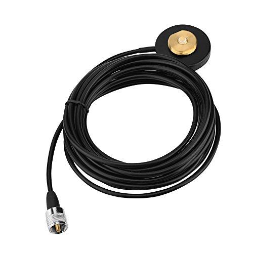 ASHATA Magnet NMO Montage,Tragbar UHF/VHF Mobilfunkantenne NMO Montage Magnetfuß Koaxialkabel,Mobile Radio Antenne Magnetic Base Montagesockel für Autoradio Antenne RG-58 Kabel Nmo Base