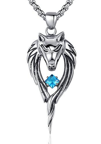 arco-iris-jewelry-joya-hecha-de-acero-inoxidable-colgante-y-cadena-para-hombre-lobo-con-oxido-de-cir