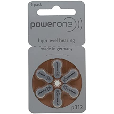 60 pezzi Varta PowerOne P 312 - Hearing Aid batteria pile PR41 - 180 mAh 1.4V