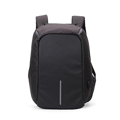 Mefly Meine Damen Rucksack 15 Zoll Student Business Tasche black