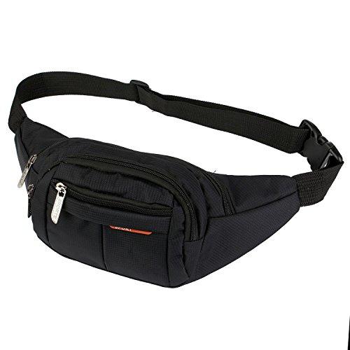 AirZyx Bumbags and Fanny Packs for Running Hiking Waist Bag Outdoor Sport Hiking Waistpack for Women Men (Black)