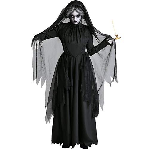 Geist Kostüm Göttin - JRKJ Cosplay Tod Weiblichen Geist Hexe Kostüm Vampir Braut Tod Göttin Halloween-Kostüm @ L