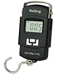 NH MART Digital Heavy-Duty Portable Hook Type with Temp 50 Kg Weighing Scale (Black)