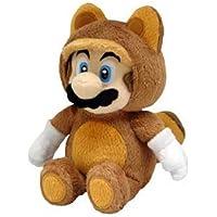 Little Buddy Oficial Super Mario Peluche Mapache Tanooki Mario, 22,86 cm
