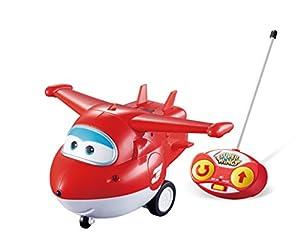 Alpha Animation & Toys- Remote Control Jett Auldeytoys YW710710-Remote Rojo, Color Blanco (YW710710)