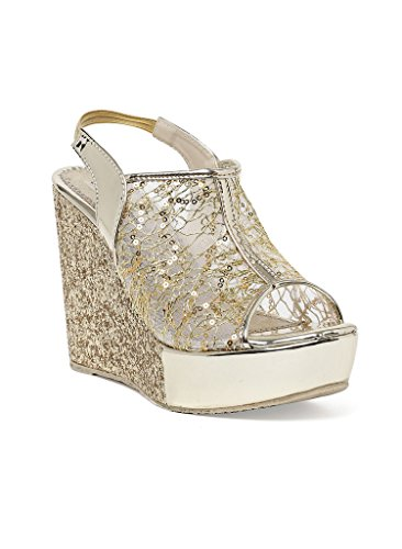 Bruno-Manetti-Women-Glitter-Gold-Faux-Leather-Wedges