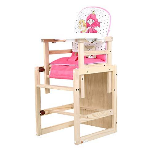 Multifonction en Bois Chaise Haute, Chaise bébé Ergonomique, Chaise de Salle à Manger pour Enfants avec Plateau de Protection de l'environnement