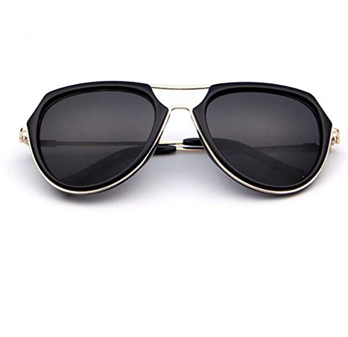 Polarisierte Europa und Südkorea Mode Persönlichkeit Trend Sonnenbrille Männer und Frauen , Schwarzer Rahmen