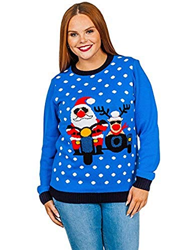 Mymixtrendz. Women Christmas Jumper Knitted Multi Print Cardigan Long Sleeve Pullover Sweater -