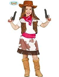 Kostüm Cowgirl Stella Gr. 110- 152Mädchen Cowboyweste Rock Kinderfasching (7- 9 Jahre (Gr. 122- 134))