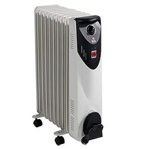 FM Calefacción BR-20 Negro, Gris 2000W Radiador – Calefactor (Radiador, Piso, Negro, Gris, Giratorio, 2000 W, 800 W)
