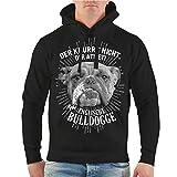 Spaß kostet Männer und Herren Kapuzenpullover Englische Bulldogge Der knurrt Nicht der atmet Größe S - 8XL
