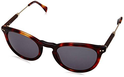 Tommy hilfiger th 1198/s a3 7py 51 occhiali da sole, oro (havana gold wood/green), unisex-adulto