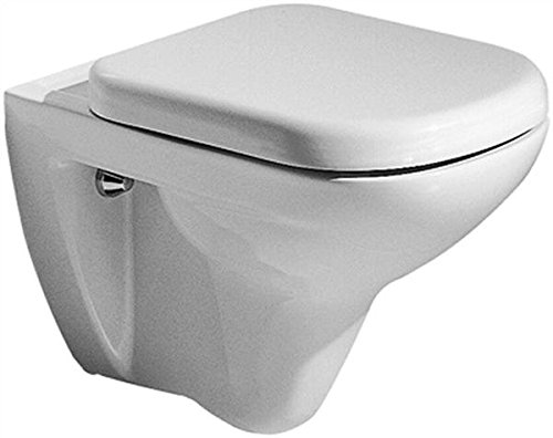 WC-Sitz Renova Nummer 1 Plan, Scharniere in Edelstahl weiß, 572140000