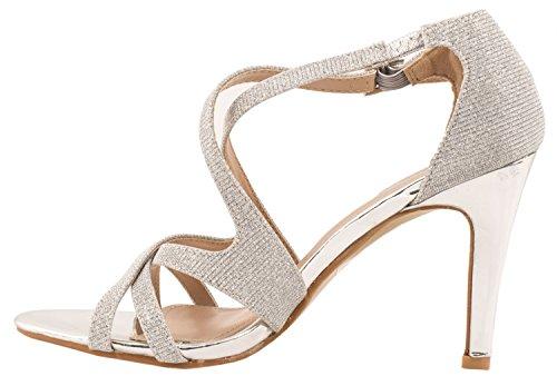 Elara - Scarpe con cinturino alla caviglia Donna Argento