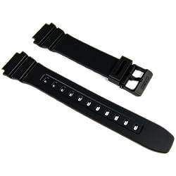 Casio 10365960 - Correa para reloj, resina, color negro
