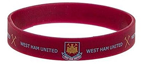 West Ham Utd FC Claret Gummy Bracelet Silicone Wristband Band Crest Official -