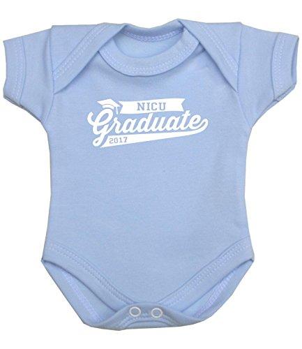 BabyPrem Frühchen Body Strampler 'NICU Graduate'Baby Kleidung 44-50cm Jungen BLAU P3