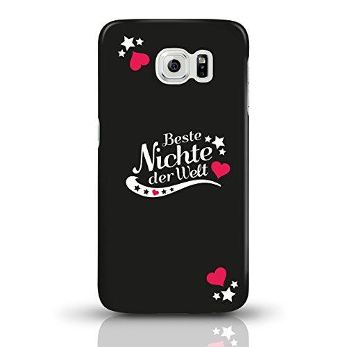 """JUNIWORDS Handyhüllen Slim Case für Samsung Galaxy S6 mit Schriftzug """"Beste Nichte der Welt"""" - ideales Weihnachtsgeschenk für die Nichte - Motiv 4 - Handyhülle, Handycase, Handyschale, Schutzhülle für motiv 1"""