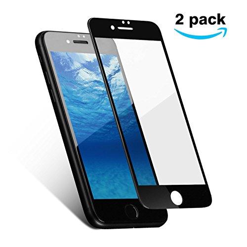 Panzerglas für iPhone 7 iPhone 8 ,YOTECE 2.5D Vollständige Abdeckung iPhone 7 iPhone 8 Schutzfolie Gehärtetem Glass 9H Härte Anti-Kratzer HD Displayschutzfolie vor Kratzern, Blasefrei-Schwarz[2pack] (Beste Hd-monitor)