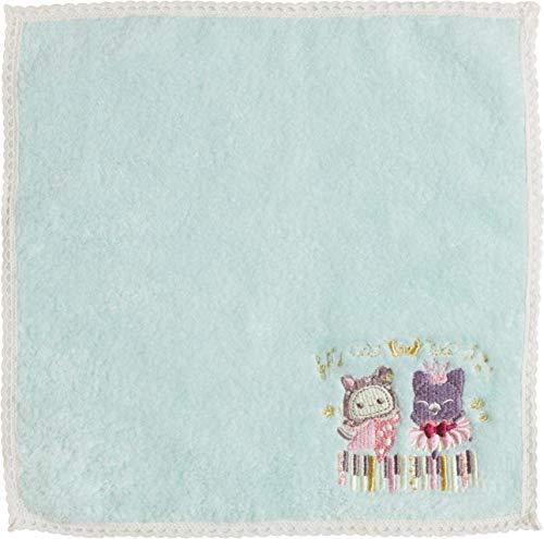 Handtuch Kuroneko Gensokyoku schwarz Katze Fantasy 25 x 25 cm grün blau CM08601 aus Japan