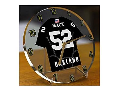 NFL National Football League Desktop Uhren–AFC West American Football Jersey Uhren–Jeder Name, beliebige, jedes Team OAKLAND RAIDERS