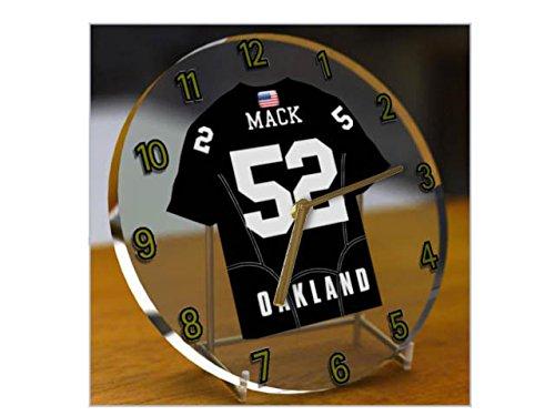 Uniformen Oakland Raiders (NFL National Football League Desktop Uhren–AFC West American Football Jersey Uhren–Jeder Name, beliebige, jedes Team OAKLAND)