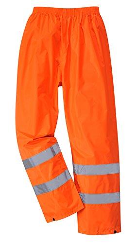 Portwest H441 Pantaloni Antipioggia ad Alta Visibilità, Arancione, XXXL