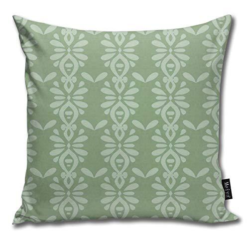 Funny&shirt Hawaiian Linen Stripe Moss_2565 Cotton & Polyester Soft Zippered Cushion Throw Case Pillow Case Cover 18