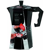 Black//Orange Aluminium IBILI Espresso Coffee Maker Sensive for 3 Cups 10 x 10 x 14 cm