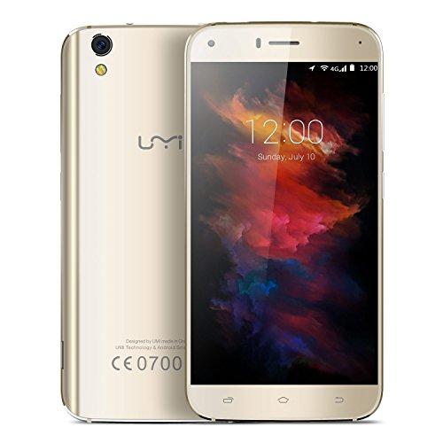 Umi Diamond X - 5.0 pollici Android 6.0 4G cornice metallica smartphone MTK6737 Quad Core a 1,3 GHz 2 GB di RAM 16 GB Doppio design curvo 8.0MP fotocamera dual SIM - oro