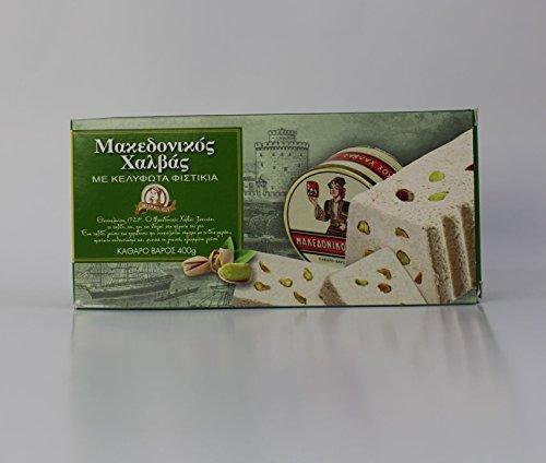 Halvas aus Sesam mit Pistazien 400 gr aus Griechenland griechischer Halva Pistazie