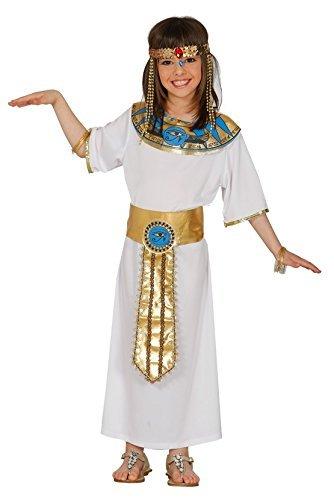 Mädchen Altägyptische Lineal Königin Kleopatra historische Kostüm Kleid Outfit 5-12 Jahre - 7-9 (Outfits Historische)