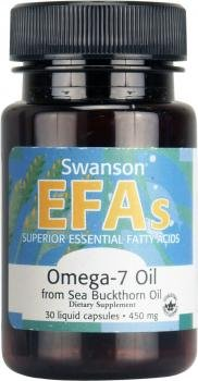 Swanson EFAs Omega 7 Oil from Sea Buckthorn Oil (450mg, 30 Liquid Capsules) from Swanson Health Products